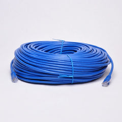 250 ft. Blue High Quality Cat6 550MHz UTP RJ45 Ethernet Bare Copper Network Cable