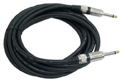 15 ft. Pyle 1/4'' to 1/4'' - 12 Gauge Professional Guitar, Speaker and Audio Cable - PPJJ15