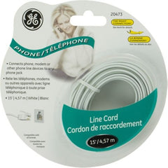 15ft. GE Phone Cord - White - 20473