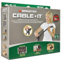 16 ft. Monster Cable-It Large Cable Management Kit - Gray