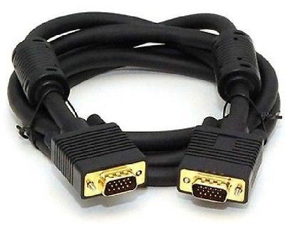 15 ft. SVGA HD15 M/M Monitor Cable w/ ferrites (Gold Plated), Monitor/AV Cables & Adapters, n/a - TiGuyCo Plus