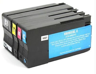 !     A     !    Compatible with HP 950XL BK / 951XL C/M/Y Rem. Ink Cartridge Combo High Yield, Ink Cartridges, Various - TiGuyCo Plus