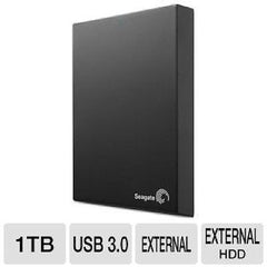 Seagate 1TB Expansion Portable Hard Drive, USB 3.0 - STBX1000101
