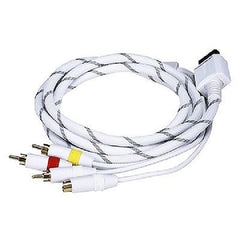 6 ft. AV Cable w/Composite (Yellow RCA)/S-Video and Stereo Audio (Red/White) for Wii & Wii U
