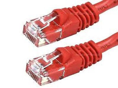 75 ft. Red High Quality Cat6 550MHz UTP RJ45 Ethernet Bare Copper Patch Cable, Ethernet Cables (RJ-45, 8P8C), TechCraft - TiGuyCo Plus