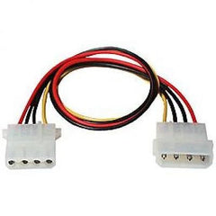 "TechCraft 12"" Internal Molex (LP4) Power Extension Cable"