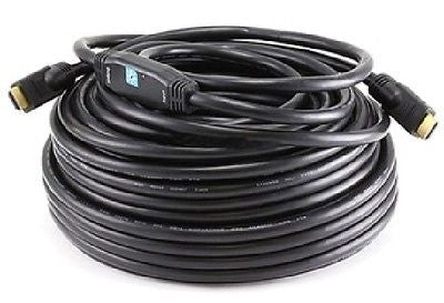 100 ft. 26AWG CL2 Standard HDMI M/M Cable w-Built-in Equalizer - Black, Video Cables & Interconnects, TGCP - TiGuyCo Plus