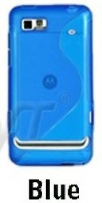 Slim Line Wave Gel Case Cover for Motorola Motoluxe XT615 - Blue, Cases, Covers & Skins, n/a - TiGuyCo Plus