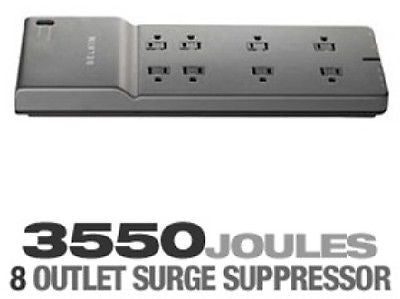 BELKIN 8-Outlet - 3550 Joules - 6 ft. Low-Profile Cord Surge Protector - BE108230-06, Surge Protectors, Power Strips, Belkin - TiGuyCo Plus