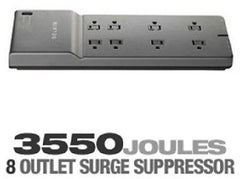 BELKIN 8-Outlet - 3550 Joules - 6 ft. Low-Profile Cord Surge Protector - BE108230-06