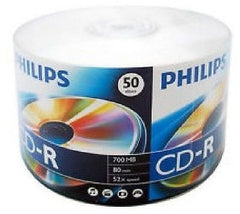 Philips CD-R - 52X - 700MB - 80MIN. - 50Pk