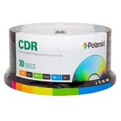 Polaroid CD-R 80 Data 700/MB 80 Minutes 52X Recording Media, 30-Pack Spindle