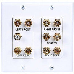 !!! A Back in Stock !!! 2-Gang 5.1 Surround Sound Distribution Wallplate - White