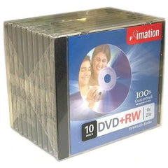 imation DVD+RW 8x - 2 hr ReWritable Media - 10 Discs with Jewel Case