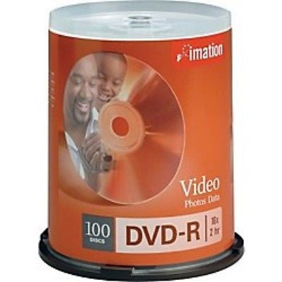 !     A     !    imation 16x DVD-R Media - 4.7GB - 2 hr Standard - 100 Pack Spindle, CD, DVD & Blu-ray Discs, Imation - TiGuyCo Plus