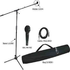 EM - Professional Microphone Stand Kit - Microphone, Cable, Stand and Holder