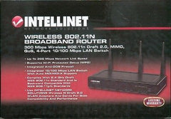 Intellinet Wireless 802.11n Broadband Router 300 Mbps Wireless 802.11n Draft 2.0