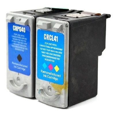 Compatible with Canon PG-40 Black & CL-41 Color Remanufacture Ink Combo Set, Ink Cartridges, G&G - TiGuyCo Plus