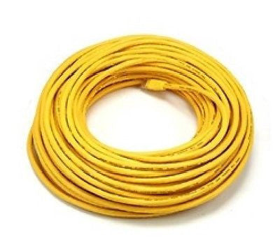 100 ft. Yellow High Quality Cat6 550MHz UTP RJ45 Ethernet Bare Copper Network Cable, Ethernet Cables (RJ-45, 8P8C), TiGuyCo Plus - TiGuyCo Plus