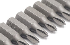 "1/4"" Tri-Wing Screwdriver Bits Set - TW1, TW2, TW3, TW4 Bits (4 Bits - 1 Each Size) - 25mm x 6.35mm - Alloy Steel"