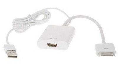 iPhone - iPad 30 pin to HDMI + USB Adapter, Video Cables & Interconnects, n/a - TiGuyCo Plus