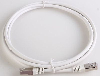 7 ft. CAT6a Shielded (10 GIG) STP Network Cable w/Metal Connectors - White, Ethernet Cables (RJ-45, 8P8C), TechCraft - TiGuyCo Plus