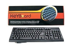 KeYBoard USB compatible computer keyboard - Black