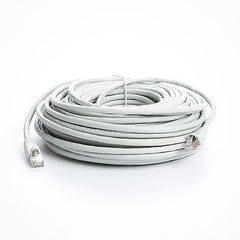100 ft. CAT6a Shielded (10 GIG) STP Network Cable w/ Metal Connectors - White