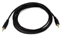 6 ft. 2.5mm M/M Stereo Audio Cable - Black