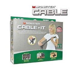 16 ft. Monster Cable-It Large Cable Management Kit - Navajo White