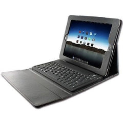 Bluetooth Keyboard with Leather Case for iPad 2-3-4 & Tablets