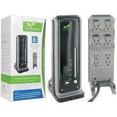 iGo Green Power Smart Tower - $25,000 Warranty 8 Outlets, 4320 Joules, 6' Cord