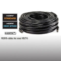 131 ft. 24AWG CL2 Standard HDMI M/M Cable w-Built-in Equalizer - Black