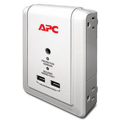 APC - Essential SurgeArrest 4 Outlet Wall Mount with USB, 120V 1080 Joules - P4WUSB