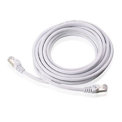 14 ft. CAT6a Shielded (10 GIG) STP Network Cable w/Metal Connectors - White, Ethernet Cables (RJ-45, 8P8C), Techcraft - TiGuyCo Plus