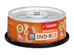 imation Government Series DVD-R - 16x - 2 hr 25 Pk Blk