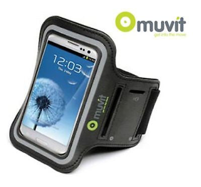 Muvit Sports Armband Case for Samsung S3, S4 & Blackberry Z30 - Grey, Armbands, muvit - TiGuyCo Plus
