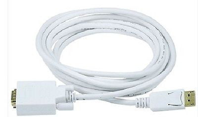 10 ft. 28AWG DisplayPort to VGA Cable - White, Monitor/AV Cables & Adapters, n/a - TiGuyCo Plus