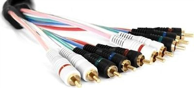 6 ft. - C.T. 5 Wire Component Video & Audio Cable, Video Cables & Interconnects, n/a - TiGuyCo Plus