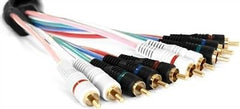6 ft. - C.T. 5 Wire Component Video & Audio Cable
