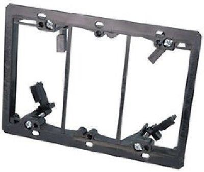 !     A     !    Arlington 3-Gang Low Voltage Mounting Bracket for Existing Construction, Wallplates, Arlington - TiGuyCo Plus