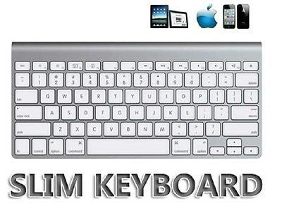 Multimedia Slim Wireless Bluetooth 2.4GHz Keyboard for iPad 2, 3, Android, PC and Laptop - White, Other, n/a - TiGuyCo Plus