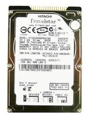 "Hitachi Travelstar (08K0639) 2.5"", 80 G, 5400 RPM, HD - HTS548080M9AT00 - USED, Internal Hard Disk Drives, Hitachi - TiGuyCo Plus"
