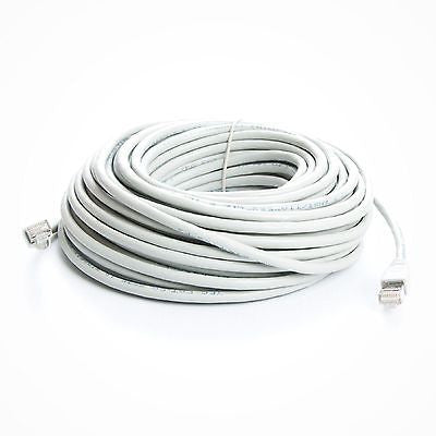75 ft. White CAT6a Shielded (10 GIG) STP Network Cable w/ Metal Connectors, Ethernet Cables (RJ-45, 8P8C), TechCraft - TiGuyCo Plus