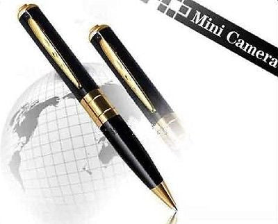 Pen Camera - 1280x960 - Black with Golden Trim, Security Cameras, n/a - TiGuyCo Plus