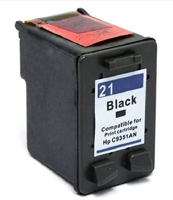 Compatible with HP 21 Remanufactured Black Ink Cartridge (C9351AN), Ink Cartridges, n/a - TiGuyCo Plus