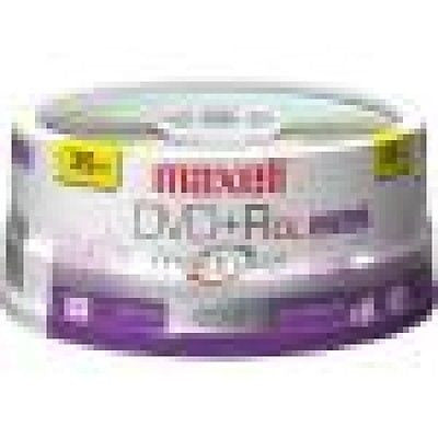 Maxell 16x DVD+R Media 4.7GB - 25 Pack Spindle, CD, DVD & Blu-ray Discs, Maxell - TiGuyCo Plus