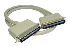 !     A     !    1m SCSI 1 - 50 Pin Centronic M to M Cable - USED - Beige