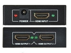1x2 HDMI v1.4 HD Splitter - 1-In and 2-Out - 3D - 1080p - Video Amplifier Repeater