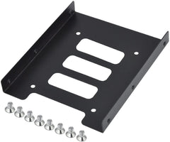 2.5'' to 3.5'' Hard Drive Bracket Mounting Kit - Metal - With Screws - Bulk Pack - Black